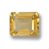 thumb image of 3.9ct Octagon Step Cut Yellow Golden Citrine (ID: 460030)