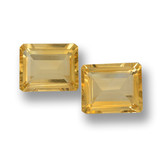 thumb image of 7.2ct Octagon Step Cut Yellow Golden Citrine (ID: 460061)