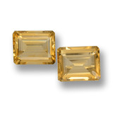 thumb image of 7.4ct Octagon Step Cut Yellow Golden Citrine (ID: 460067)