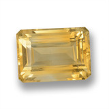 thumb image of 18ct Octagon Step Cut Yellow Golden Citrine (ID: 460100)