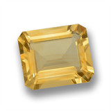 thumb image of 7.8ct Octagon Step Cut Yellow Golden Citrine (ID: 460103)