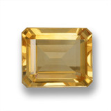 thumb image of 5.4ct Octagon Step Cut Yellow Golden Citrine (ID: 460615)