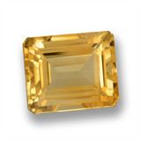 thumb image of 6.1ct Octagon Step Cut Yellow Golden Citrine (ID: 460623)