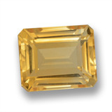thumb image of 6ct Octagon Step Cut Yellow Golden Citrine (ID: 460624)