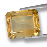 thumb image of 5.1ct Octagon Step Cut Yellow Golden Citrine (ID: 460626)