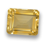thumb image of 4.5ct Octagon Step Cut Yellow Golden Citrine (ID: 460658)