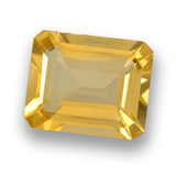 thumb image of 3.6ct Octagon Step Cut Yellow Golden Citrine (ID: 460659)