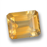 thumb image of 5.5ct Octagon Step Cut Yellow Golden Citrine (ID: 460720)