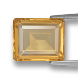 thumb image of 5ct Octagon Step Cut Yellow Golden Citrine (ID: 460721)