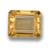 thumb image of 6ct Octagon Step Cut Yellow Golden Citrine (ID: 460722)