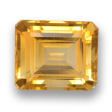 thumb image of 6.3ct Octagon Step Cut Yellow Golden Citrine (ID: 460773)