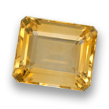 thumb image of 6ct Octagon Step Cut Yellow Golden Citrine (ID: 460778)