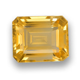 thumb image of 4.4ct Octagon Step Cut Yellow Golden Citrine (ID: 461029)