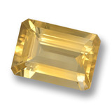 thumb image of 6.2ct Octagon Step Cut Yellow Golden Citrine (ID: 461235)