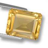 thumb image of 5.5ct Octagon Step Cut Yellow Golden Citrine (ID: 461352)