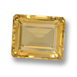 thumb image of 6ct Octagon Step Cut Yellow Golden Citrine (ID: 461354)