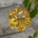 thumb image of 3ct Carved Flower Yellow Golden Citrine (ID: 470955)