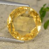 thumb image of 4.4ct Round Drilled Checkerboard (Double Sided) Yellow Golden Citrine (ID: 477365)