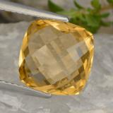 thumb image of 3.3ct Cushion Checkerboard (double sided) Yellow Golden Citrine (ID: 477398)