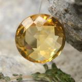 thumb image of 4.5ct Round Drilled Checkerboard (Double Sided) Yellow Golden Citrine (ID: 477494)
