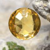 thumb image of 4.6ct Round Drilled Checkerboard (Double Sided) Yellow Golden Citrine (ID: 477496)