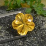 thumb image of 2.7ct Carved Flower Yellow Orange Citrine (ID: 480028)