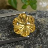 thumb image of 2ct Carved Flower Deep Gold Citrine (ID: 480033)