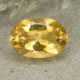thumb image of 5.1ct Oval Facet Yellow Citrine (ID: 492527)