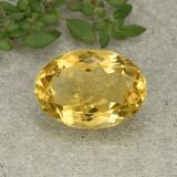 thumb image of 5.5ct Oval Facet Yellow Citrine (ID: 493110)