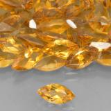 0.48 ct 马眼切面 Medium Orange 黄水晶 Gem 7.97 mm x 3.9 mm (Photo B)