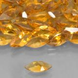 0.48 ct 马眼切面 Medium Orange 黄水晶 Gem 7.97 mm x 3.9 mm (Photo C)