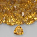 0.68 ct Trillion Facet Dark Golden Citrine Gem 6.15 mm x 6 mm (Photo B)