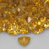 0.68 ct Trillion Facet Dark Golden Citrine Gem 6.15 mm x 6 mm (Photo C)