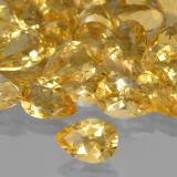 1.63 ct Birnen Schliff Golden Citrin Edelstein 10.20 mm x 7.1 mm (Photo B)