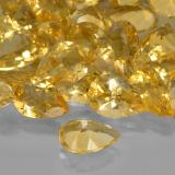 1.63 ct Birnen Schliff Golden Citrin Edelstein 10.20 mm x 7.1 mm (Photo C)