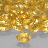 0.64 ct Pear Facet Medium Golden Citrine Gem 7.07 mm x 5.1 mm (Photo B)