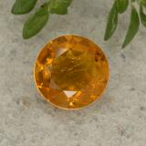 thumb image of 1.3ct Round Facet Yellow Orange Clinohumite (ID: 494995)