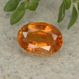thumb image of 1.1ct Oval Facet Yellow Orange Clinohumite (ID: 494996)