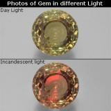 thumb image of 19.9ct Round Facet Green/Pink Color-Change Diaspore (ID: 381559)
