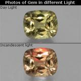thumb image of 6.7ct Cushion-Cut Green/Pink Color-Change Diaspore (ID: 381560)