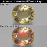 thumb image of 10.8ct Oval Facet Green/Pink Color-Change Diaspore (ID: 381562)
