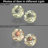thumb image of 1.1ct Round Facet Green/Pink Color-Change Diaspore (ID: 388186)
