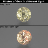 thumb image of 0.7ct Round Facet Green/Pink Color-Change Diaspore (ID: 388206)