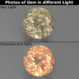 thumb image of 0.6ct Round Facet Green/Pink Color-Change Diaspore (ID: 388220)