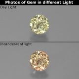 thumb image of 0.5ct Round Facet Green/Pink Color-Change Diaspore (ID: 388239)