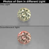 thumb image of 0.6ct Round Facet Green/Pink Color-Change Diaspore (ID: 388500)
