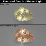thumb image of 1.2ct Pear Facet Green to Pink Color-Change Diaspore (ID: 388636)