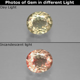 thumb image of 1.3ct Oval Facet Green/Pink Color-Change Diaspore (ID: 388669)