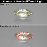 thumb image of 1.1ct Marquise Facet Green/Pink Color-Change Diaspore (ID: 388676)