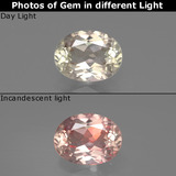 thumb image of 1ct Oval Facet Green/Pink Color-Change Diaspore (ID: 388707)
